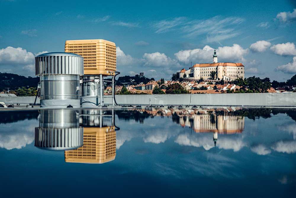 Průmyslová produktová fotografie klimatizace