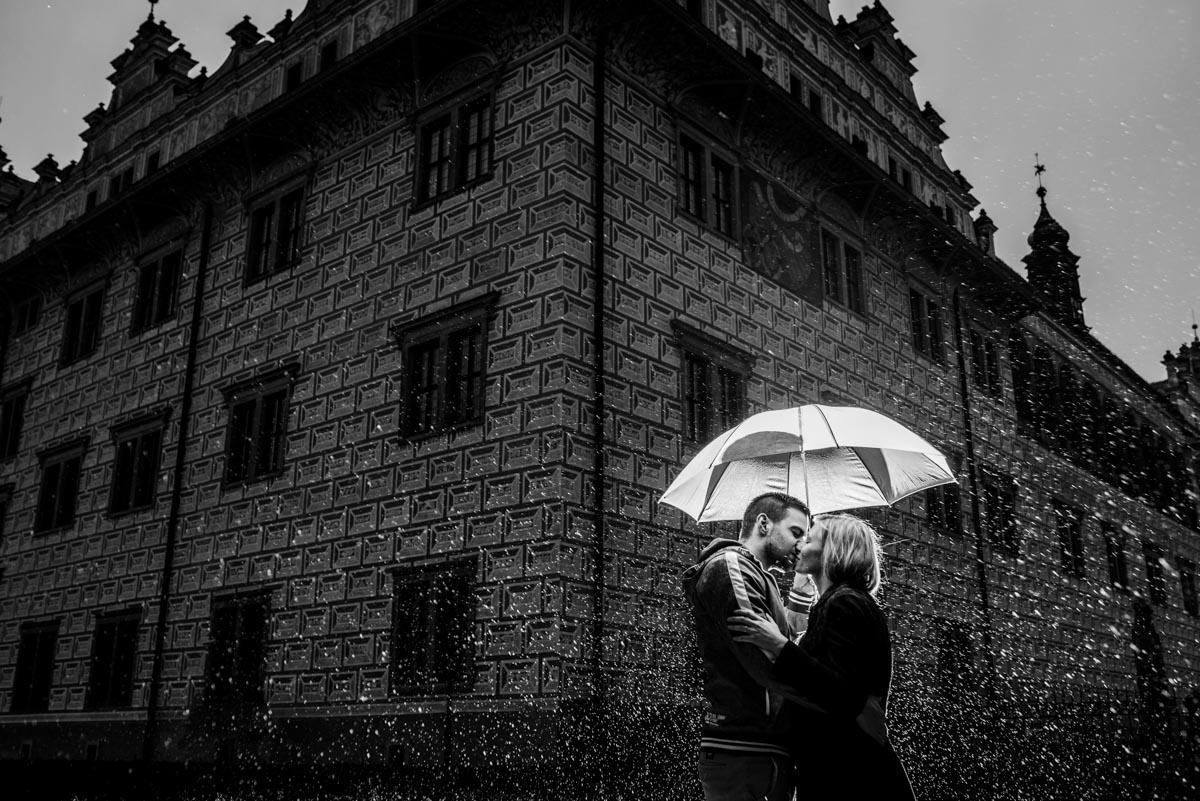 předsvatební focení v dešti
